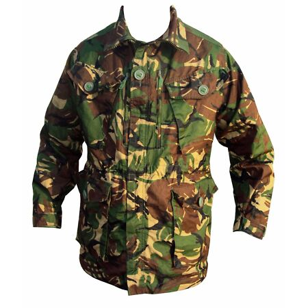 img-DPM Camouflage RIPSTOP Field JACKET - Used - LARGE - British ARMY -