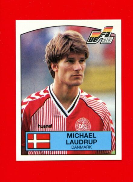 287 DANMARK LAUDRUP New With BLACK back TOPMINT!! Panini EURO 96 N