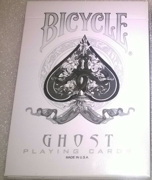 Magic Trick Deck Of Cards - SVENGALI - BICYCLE WHITE GHOST DECK & instructions