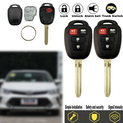 2xFor 2014-2017 Toyota Camry & Corolla Keyless Entry Remote Key -H Chip HYQ12BDM