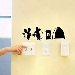3D Funny Mouse Hole Decals Bedroom Wall Art Wallpaper Mural Wall Stickers