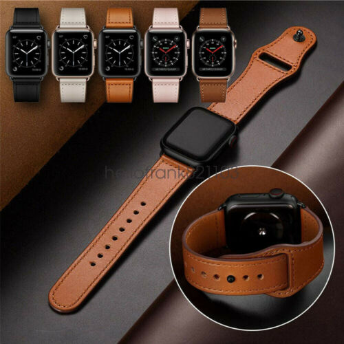 40/44mm Genuine Leather Apple Watch Band Strap for iWatch Series 5 4 3 2 38/42mm