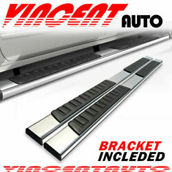 For 2009-2014 Ford F150 Super Crew Cab 6'' Running Board Side Step Nerf Bar S/S H
