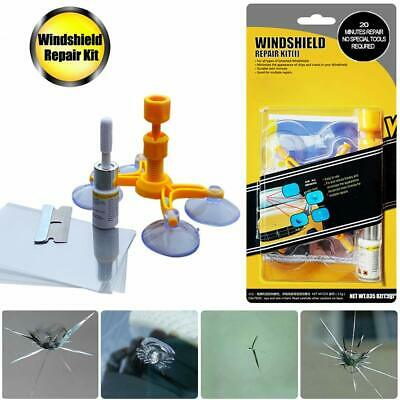 Windshield Repair Kit Stone Damage Car Wind Glass Bullseye Rock Chip Crack Star