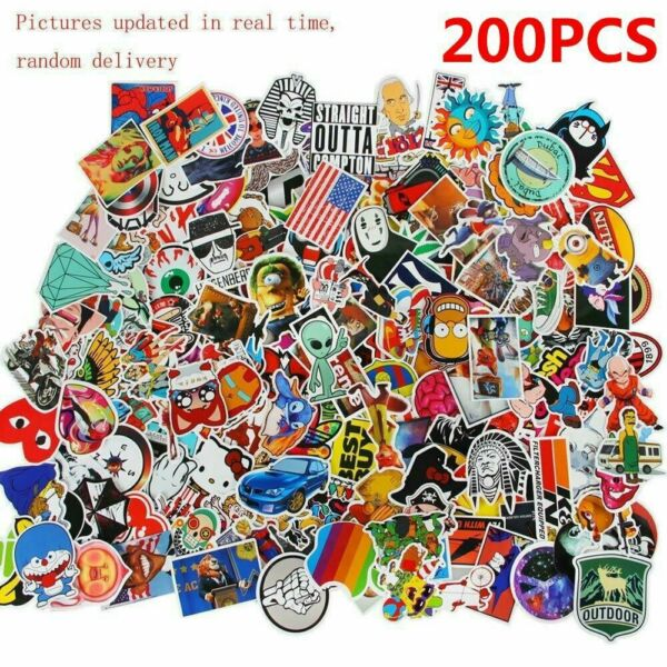 200Pcs auto Graffiti autocollant Sticker pr Moto Velo Skateboard bagage voiture