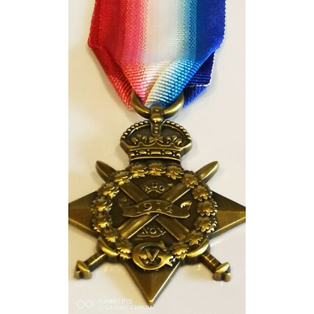 img-Collectable British 1914 Military Star Bronze medal France Belgium Campaign