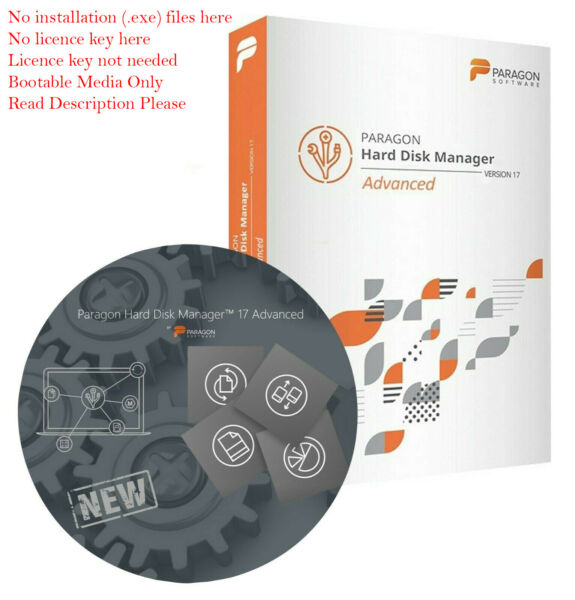 PARAGON Disc Backup & Recovery VM support v17 Advenced Bootable CD