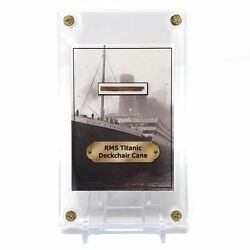 Kyпить White Star Line RMS Titanic Shipwreck Deck Chair Cane Artifact Trading Card на еВаy.соm