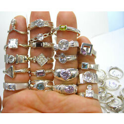 Kyпить 50 GRAMS Wholesale Mixed Variety Lot NEW 925 Sterling Silver Approx. 9-15 Rings на еВаy.соm