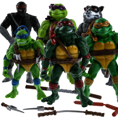 6 PCS Teenage Mutant Ninja Turtles 2nd Action Figures Classic Collection Toys