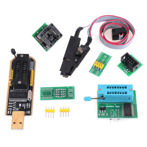 EEPROM BIOS usb programmer CH341A + SOIC8 clip+1.8V adapter + SOIC8 adapter TW