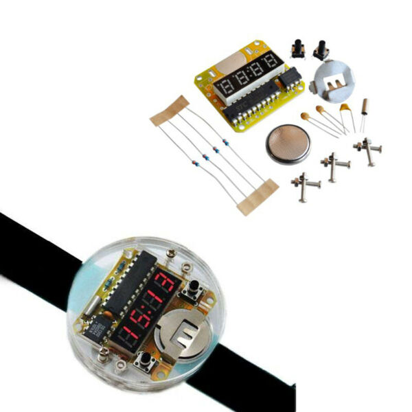 Kit d'horloge électronique DIY LED Digital Watch Avec couvercle transparent