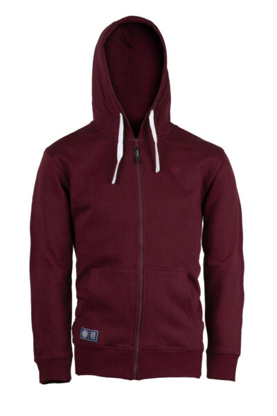 Coveri Collection Felpa uomo cappuccio e zip bordeaux Regular fit