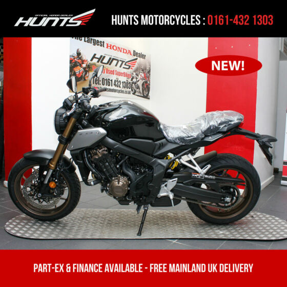 IN STOCK NOW! - NEW 2019 Honda CB650R ABS. Black. £6,995 On The Road