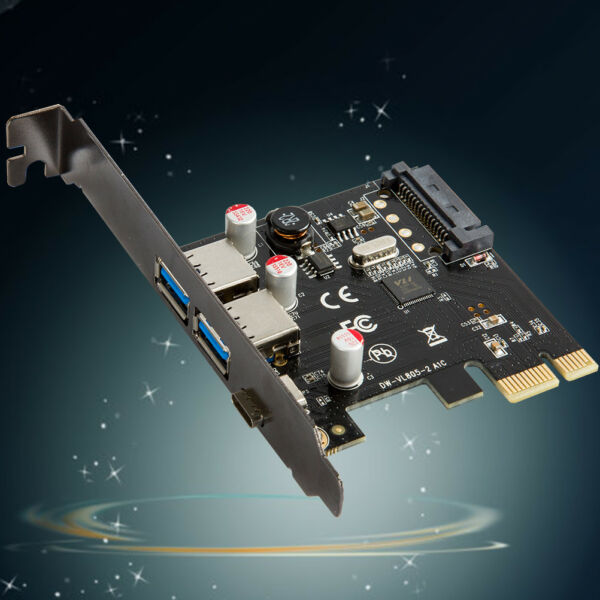 Super Speed PCI-E Express to 3 Port USB 3.0 3.1 Type A/C sata Host Card #
