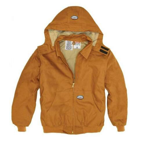 Brand New! Rasco FR Flame Resistant Hooded Brown Duck Jackets Coats FR3507BN
