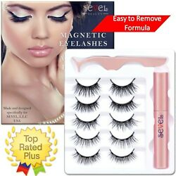 Kyпить Magnetic Eyelashes With  Eyeliner Natural Look Reusable No Glue Waterproof  на еВаy.соm
