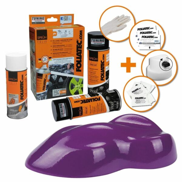 Hambach,FrancePEINTURE JANTE VIOLET MAT KIT SPRAY ELASTIQUE PLASTIFIANT  FT2335