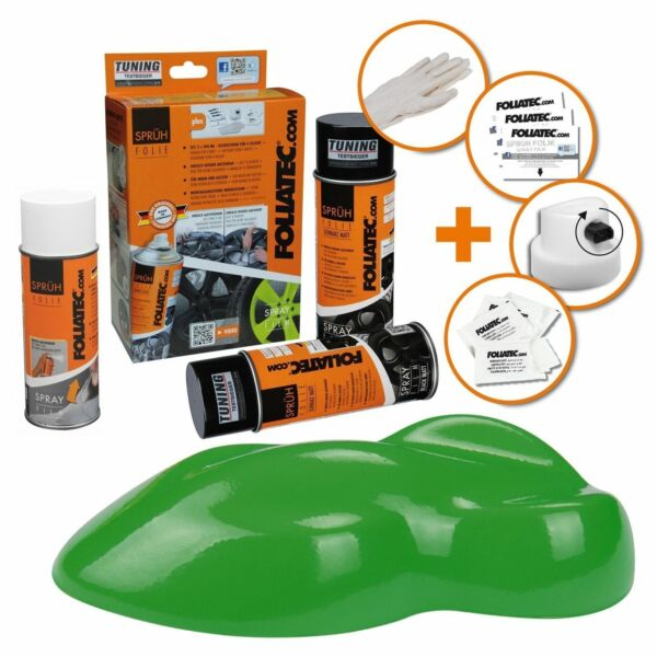 Hambach,FrancePEINTURE JANTE VERT POWER MAT KIT SPRAY ELASTIQUE PLASTIFIANT  FT2327