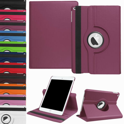 """For iPad 10.2"""" 2019 7th Generation 360 Rotating Leather Smart Stand Case Cover"""