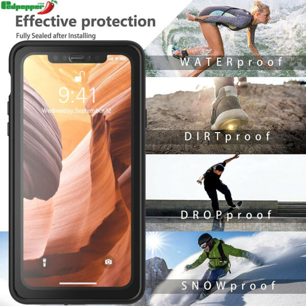 For iPhone 11/11 Pro X XR XS Max Waterproof 360° Full Body Shockproof Case Cover