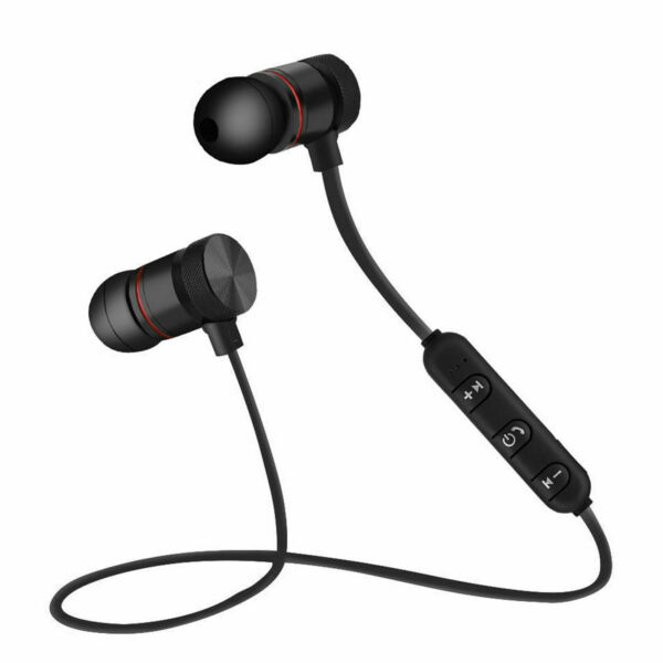 AURICOLARI BLUETOOTH MAGNETICI CUFFIE SPORTIVE WIRELESS STEREO XT-6 FITNESS