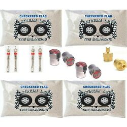 Kyпить Tire Balance Beads Checkered Flag Premium 4 Bag Kit includes 12oz Balancing Bags на еВаy.соm