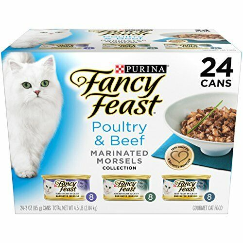 Purina Fancy Feast Gravy Wet Cat Food Variety Pack, Poultry & Beef Marinated Mor