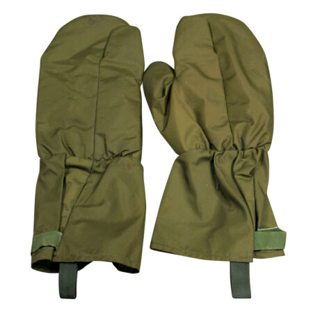 img-British Army Gloves Gore-Tex Finger Trigger Outer Mittens Used Green Olive Drab
