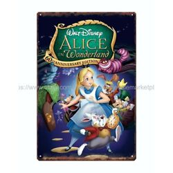 Alice in Wonderland metal tin sign wall lodge cafes living room