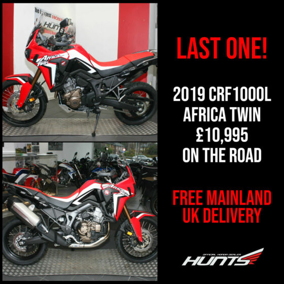 LAST ONE! NEW 2019 Honda CRF1000L Africa Twin. £10,995 On The Road + 0% APR PCP!