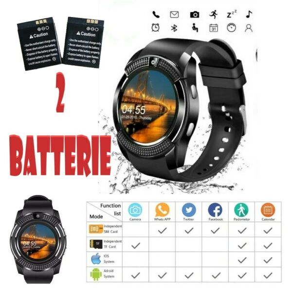 🔝⭐Smartwatch Android iOS Bluetooth Orologio Telefono CELLULARE Sim card Touch
