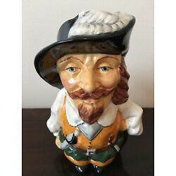 ENGLISH TOBY JUG ''THE CAVALIER'' with brown coat-