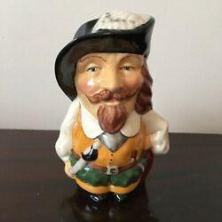 ENGLISH TOBY JUG ''THE CAVALIER'' with red coat