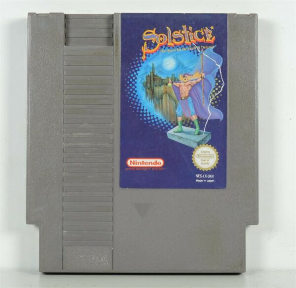 Solstice: The Quest For The Staff Of Demnos Nintendo NES Game Cartridge