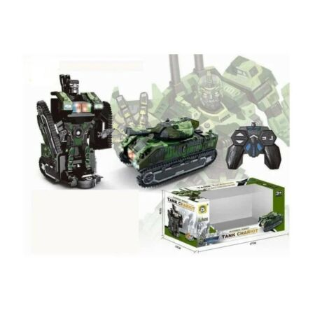 img-NEW TANK CHARIOT TRANSFORMERS ARMY ROBOT CAR REMOTE CONTROL TOY LIGHTS KIDS UK