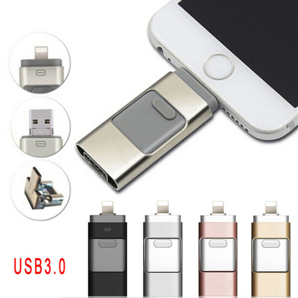 3in1 USB Flash Drive Per iPhone / iPad / Android / PC i-Flashdrive Pen Drive,,