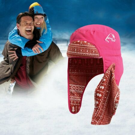 img-Women Men Winter Cap Warm Fur Ski Hat Trapper Aviator Trooper Cap Ear UT