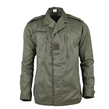 img-GENUINE FRENCH ARMY F2 JACKET COMBAT MILITARY ISSUE SURPLUS SHIRT OLIVE OD NEW