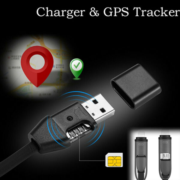 2In1 Car Charger GPS Tracker USB Charger.Cable Real GSM/GPRS Track for IOS/AnKTW