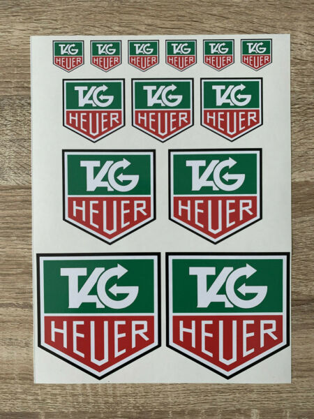 planche d'autocollant TAG HEUER motorsport course rally  F1 stickers decals