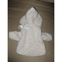 Dog Hoodie clothes shirt pet jacket soft fleece pullover  Ivory