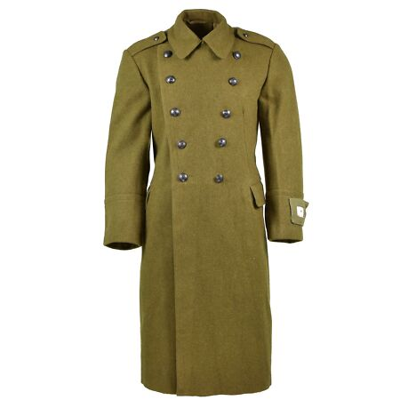 img-GENUINE ROMANIAN TRENCH COAT ARMY MILITARY WOOL OVERCOAT HEAVY WINTER SHINEL NEW