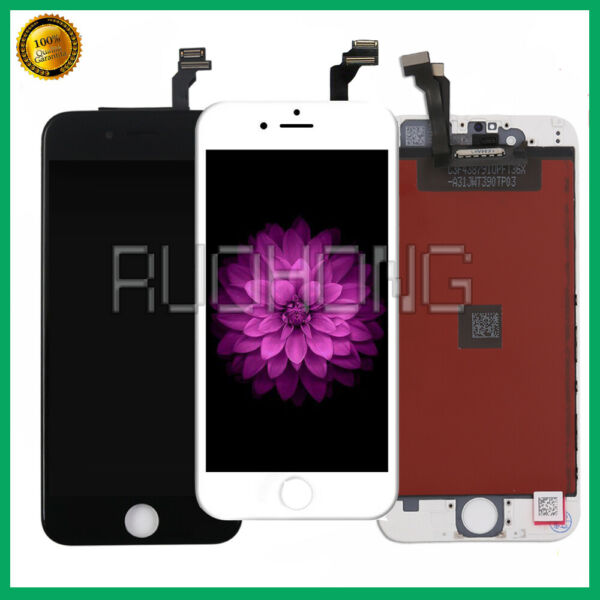 LCD DISPLAY PER APPLE IPHONE 6 VETRO SCHERMO + TOUCH SCREEN BIANCO NERO ASSEMBLY