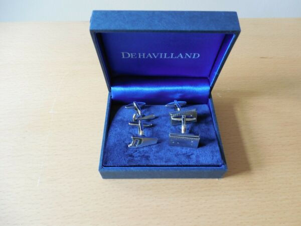 Dehavilland, 2 Pairs, Novelty Cuff-links, 2 Rulers a Hammer & Saw Shapes