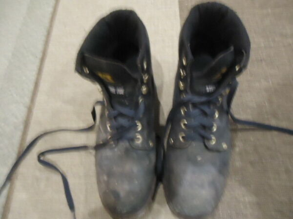 CATERPILLAR STEEL TOE CAP SAFETY BOOTS SIZE UK 10 CAT OIL AND WATER RESISTANT