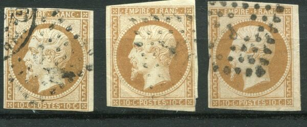 FRANCE COLLECTION - CLASSIQUE 1854 N° 13A TYPE I OBLITERES A SAISIR