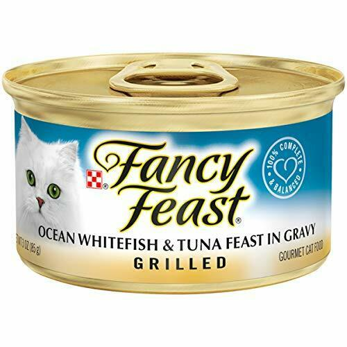 Purina Fancy Feast Grilled Gravy Wet Cat Food, Ocean Whitefish & Tuna Feast - (2