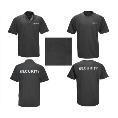 img-Security Polo Shirt Security Service File T-Shirt Doorman Polo Black