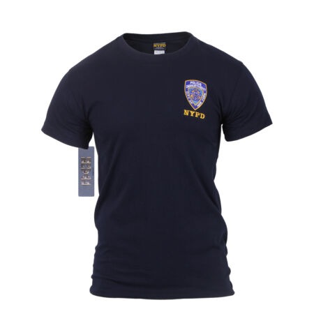 img-Navy Blue Officially Licensed 1-Sided Embroidered NYPD Graphic Tee Rothco 6656
